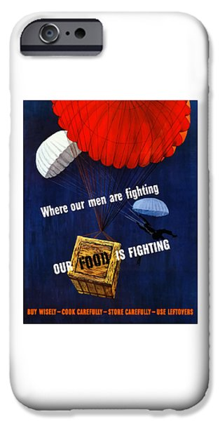 Ww1 iPhone Cases - Our Food Is Fighting iPhone Case by War Is Hell Store