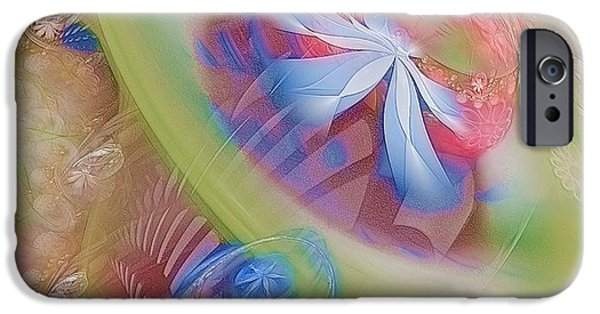 Apophysis Pastels iPhone Cases - Our Hearts Sing  iPhone Case by Gayle Odsather