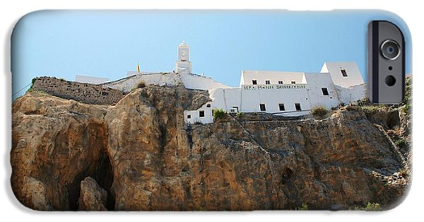 Mandraki iPhone Cases - Our Lady Spiliani monastery on Nisyros iPhone Case by David Fowler