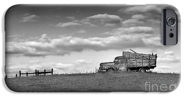 Final Resting Place Photographs iPhone Cases - Out for Delivery in Floyd Virginia iPhone Case by T Lowry Wilson