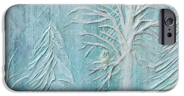 Wintry Mixed Media iPhone Cases - Out In The Cold iPhone Case by Laura Nance