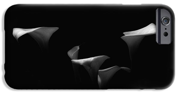 Calla Lilly iPhone Cases - Out of Darkness iPhone Case by Donna Blackhall