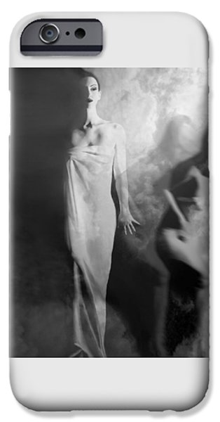 Artsy iPhone Cases - Out of the Fog - Self Portrait iPhone Case by Jaeda DeWalt