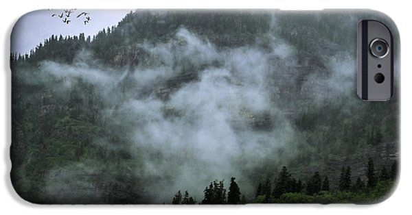 Fog Mist iPhone Cases - Out of the Mountain Mist iPhone Case by Janice Rae Pariza