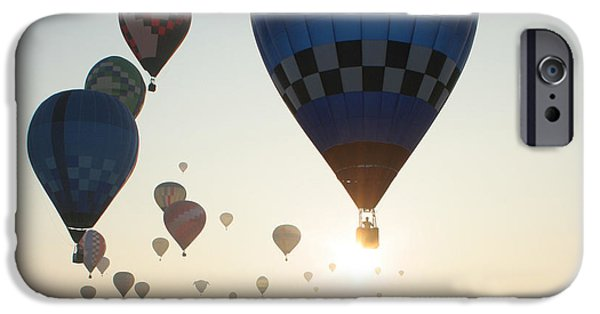 Hot Air Balloon iPhone Cases - Out Of The Sun No2 iPhone Case by Paul Anderson