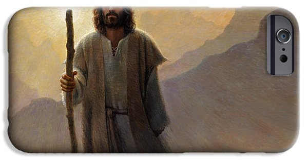 Religious Art iPhone Cases - Out of the Wilderness iPhone Case by Greg Olsen