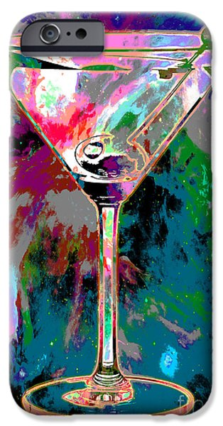 Cosmic Space iPhone Cases - Out of this World Martini iPhone Case by Jon Neidert