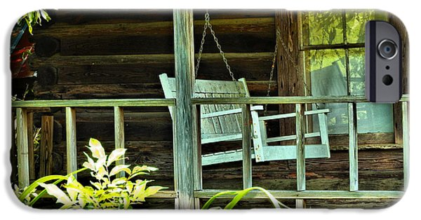 Cabin Window iPhone Cases - Out on Thigpen Road iPhone Case by Laura Ragland