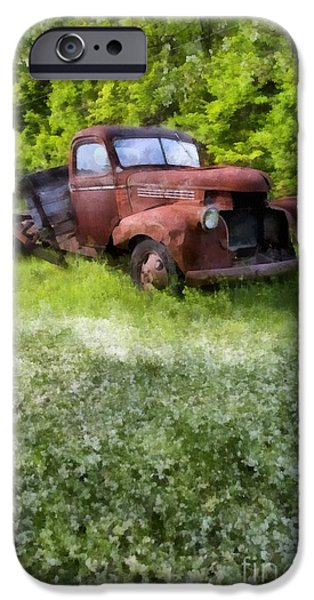 Quechee iPhone Cases - Out to Pasture iPhone Case by Edward Fielding