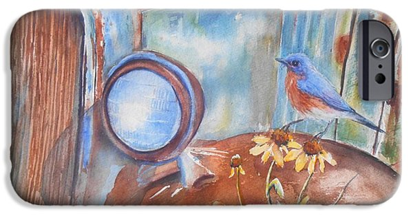 Rusted Cars iPhone Cases - Out to Pasture iPhone Case by Patricia Pushaw