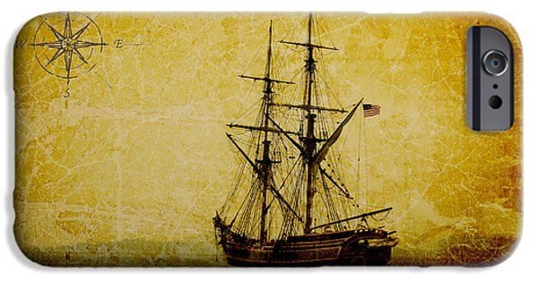 Pirate Ships iPhone Cases - Out to Sea iPhone Case by Steve McKinzie
