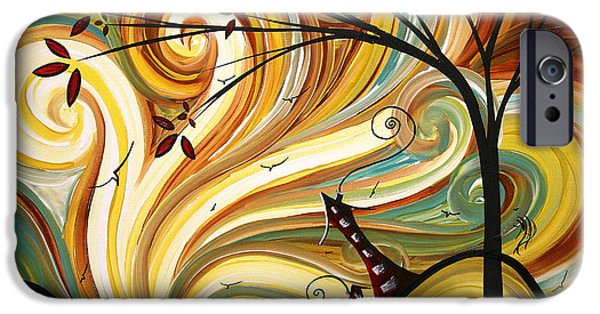 Contemporary Abstract iPhone Cases - OUT WEST Original MADART Painting iPhone Case by Megan Duncanson