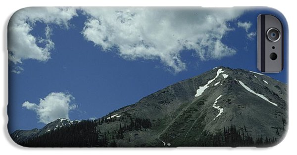 Snow iPhone Cases - Outdoor Landscape Of A Mountain iPhone Case by Ink and Main