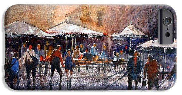 Figure iPhone Cases - Outdoor Market - Rome iPhone Case by Ryan Radke
