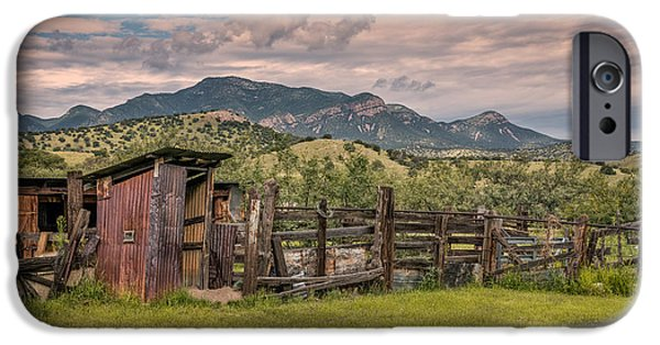 Ruin iPhone Cases - Outhouse And Corrals iPhone Case by Al Andersen
