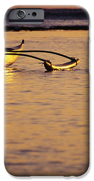 Outrigger and Sunset iPhone Case by Joss - Printscapes