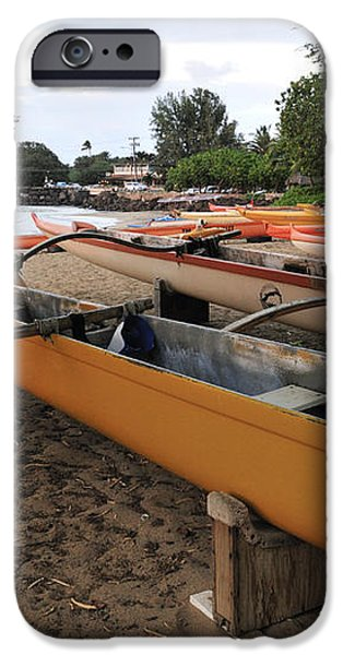 Outrigger Canoes iPhone Case by Andy Smy