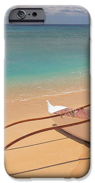 Outrigger on Beach iPhone Case by Dana Edmunds - Printscapes