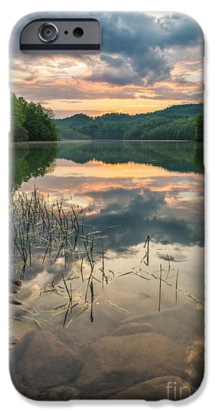 Reflecting Sunset iPhone Cases - Over and Under iPhone Case by Anthony Heflin