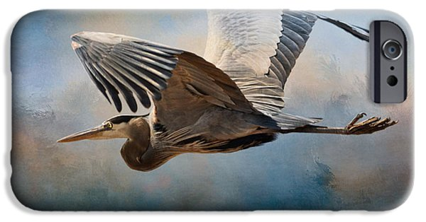 Sea Birds iPhone Cases - Over Ocean Skies iPhone Case by Jai Johnson