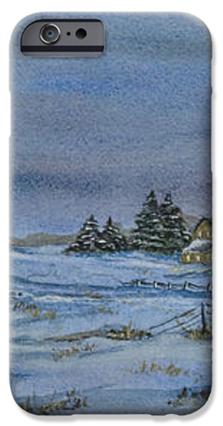 Over The Bridge And Through The Snow iPhone Case by Charlotte Blanchard