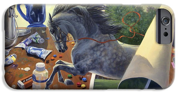 Equestrian iPhone Cases - Over The Edge iPhone Case by Jeanne Newton Schoborg