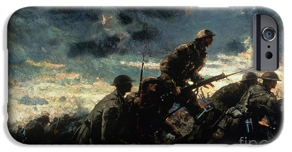 World War One iPhone Cases - Over the Top iPhone Case by Alfred Bastien