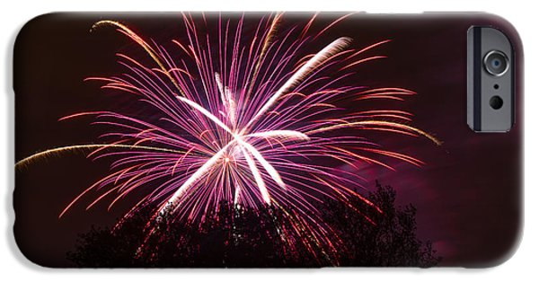 Fourth Of July iPhone Cases - Over the Tree iPhone Case by Keith Brodeur