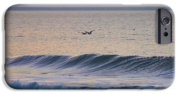 Seagull iPhone Cases - Over the Waves iPhone Case by Bill Cannon