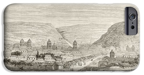 Nineteenth iPhone Cases - Overall View Of Cuzco, Peru, In The iPhone Case by Ken Welsh