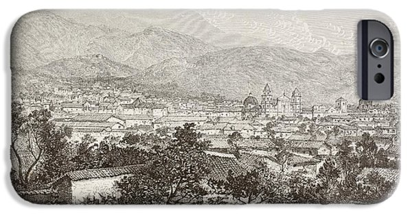 Nineteenth iPhone Cases - Overall Views Of Bogot , Colombia Circa iPhone Case by Ken Welsh