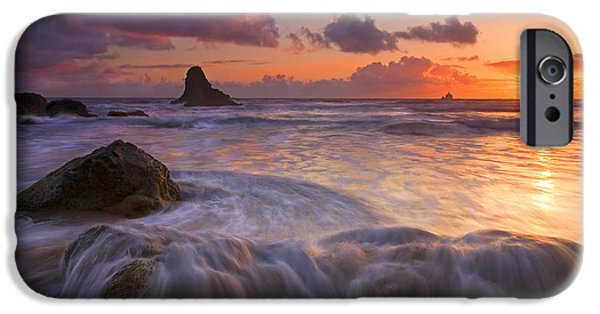 Ocean Sunset iPhone Cases - Overcome iPhone Case by Mike  Dawson