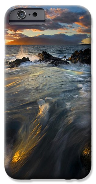Ocean Sunset iPhone Cases - Overflow iPhone Case by Mike  Dawson