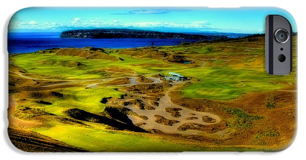 Us Open Photographs iPhone Cases - Overlooking the Chambers Bay Golf Course iPhone Case by David Patterson