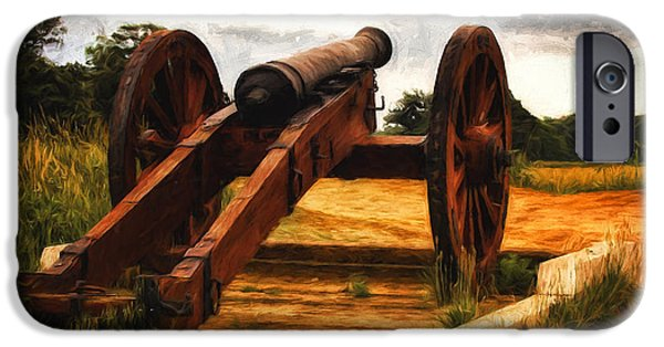 Yorktown Virginia iPhone Cases - Overlooking Yorktown  ... iPhone Case by Chuck Caramella
