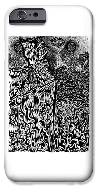 Abstract Digital Drawings iPhone Cases - Overlord iPhone Case by AR Teeter