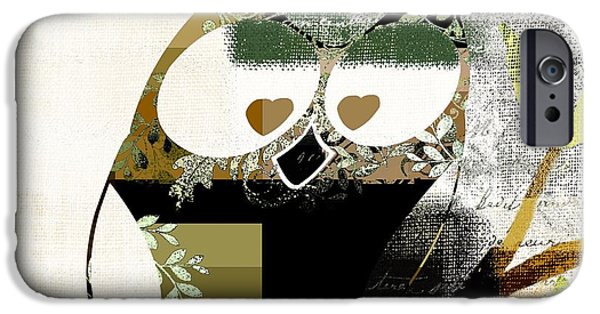 Abstract Realism iPhone Cases - Owl Design - j164049167-v03 iPhone Case by Variance Collections
