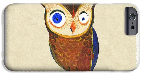 Owls iPhone Cases - Owl iPhone Case by Kristina Vardazaryan