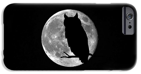 Best Sellers -  - Moonscape iPhone Cases - Owl Moon iPhone Case by Al Powell Photography USA