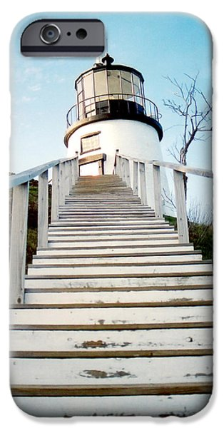 New England Lighthouse iPhone Cases - Owls Head Light iPhone Case by Greg Fortier