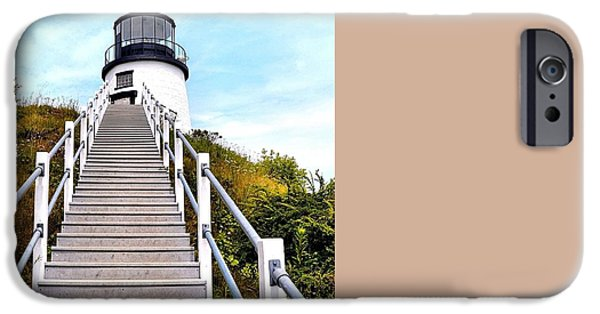 Constitution iPhone Cases - Portsmouth Harbor Light at New Castle iPhone Case by James Potts