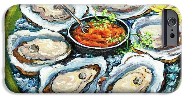 Raw iPhone Cases - Oysters on the Half Shell iPhone Case by Dianne Parks