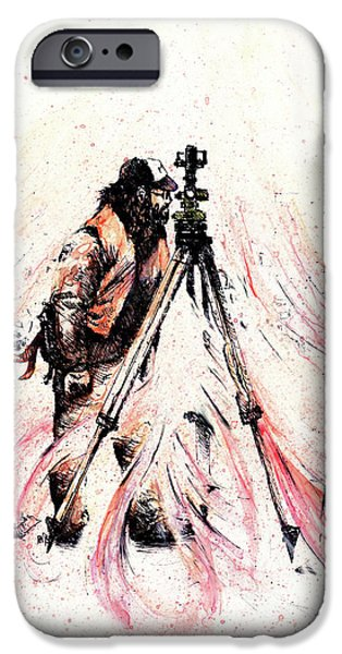Storm Drawings iPhone Cases - P J iPhone Case by Rachel Christine Nowicki