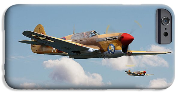 Warhawk iPhone Cases - P40 Warhawk iPhone Case by Pat Speirs