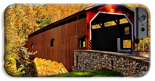 Recently Sold -  - Covered Bridge iPhone Cases - Pa Covered Bridge iPhone Case by Nick Zelinsky