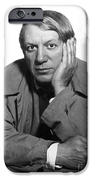 Painter Photographs iPhone Cases - Pablo Picasso (1881-1973) iPhone Case by Granger