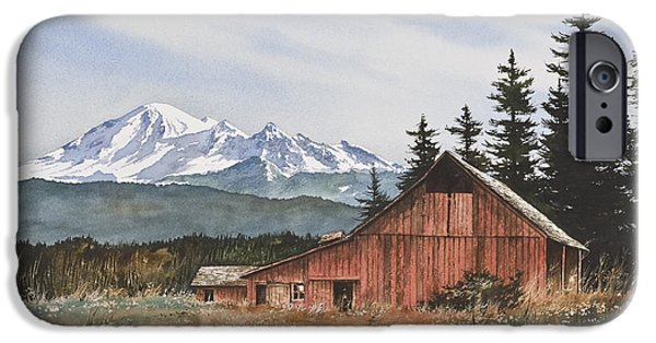 Barns iPhone Cases - Pacific Northwest Landscape iPhone Case by James Williamson