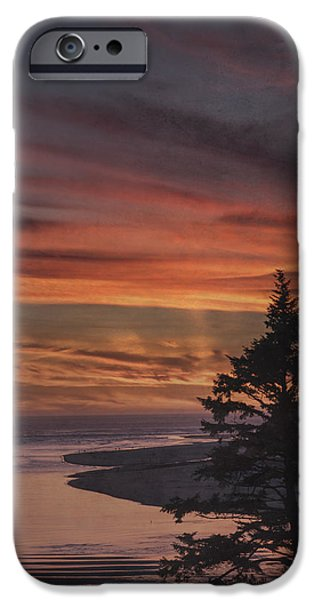 Texture iPhone Cases - Pacific Twilight iPhone Case by K Powers  Photography