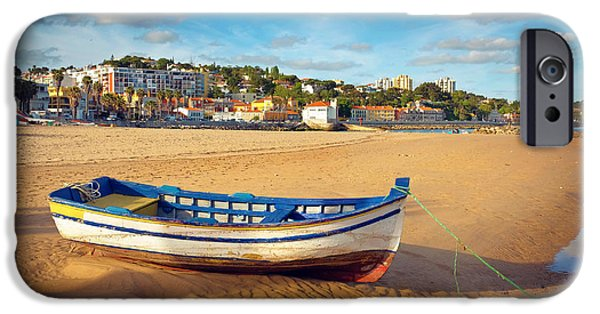 Beach Landscape iPhone Cases - Paco dArcos beach iPhone Case by Carlos Caetano
