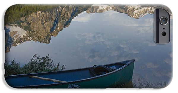Canoe iPhone Cases - Paddle to the Mountains iPhone Case by Idaho Scenic Images Linda Lantzy